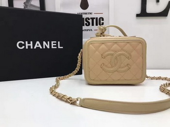 Chanel Cosmetic Bag Original Cannage Pattern A93341 Apricot