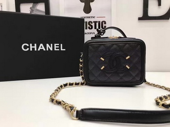 Chanel Cosmetic Bag Original Cannage Pattern A93341 Black