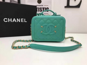 Chanel Cosmetic Bag Original Cannage Pattern A93341 Green