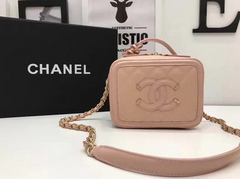 Chanel Cosmetic Bag Original Cannage Pattern A93341 Pink