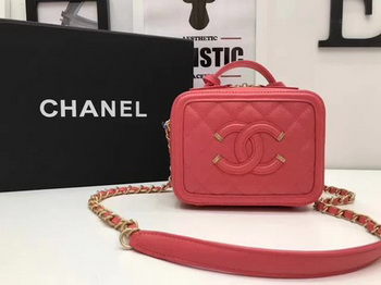Chanel Cosmetic Bag Original Cannage Pattern A93341 Red