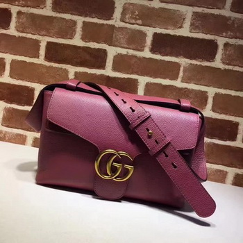 Gucci GG Marmont Leather Shoulder Bag 401173 Rose