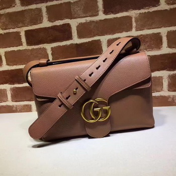 Gucci GG Marmont Leather Shoulder Bag 401173 Wheat