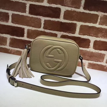 Gucci Soho Metallic Leather Disco Bag 308364 Apricot