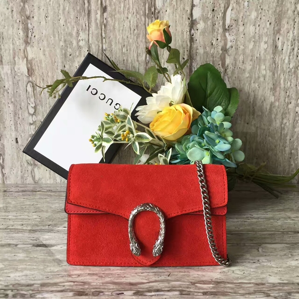 Gucci Dionysus Suede Leather Mini Shoulder Bag 476432 Red