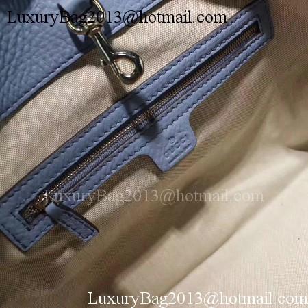 Gucci Soho Medium Tote Bag Calfskin Leather 308982 Blue