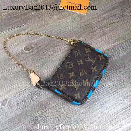 Louis Vuitton Monogram Canvas POCHETTE ACCESSOIRES M60158 Blue