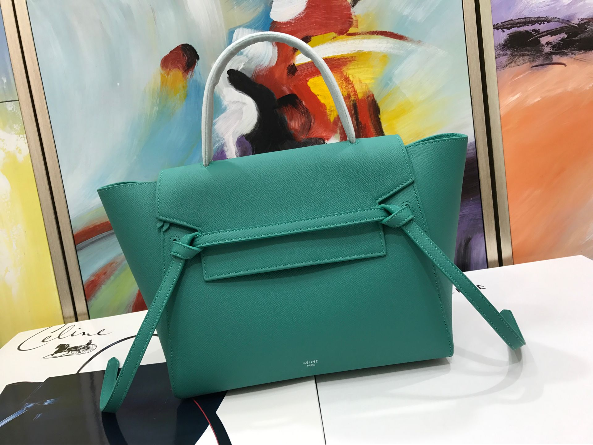 Celine Belt Bag Original Leather C98312 Green