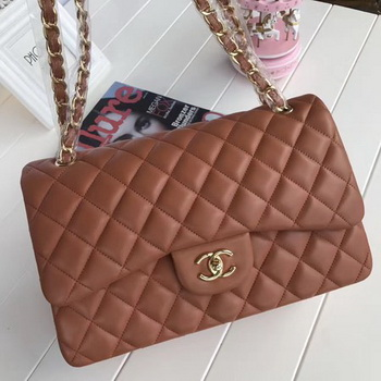 Chanel 2.55 Series Flap Bags Brown Original Sheepskin A1112 Gold