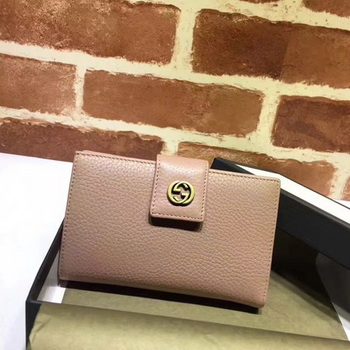 Gucci Calfskin Leagther Wallet 337023 Apricot