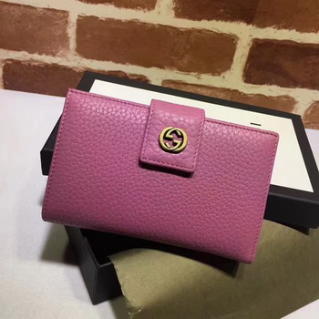 Gucci Calfskin Leagther Wallet 337023 Purple