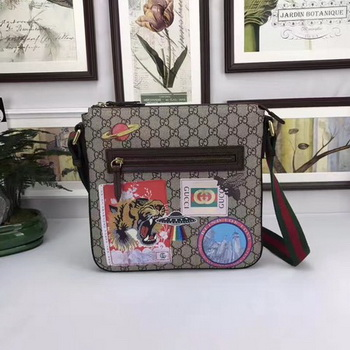 Gucci Courrier soft GG Supreme Messenger Bag 406408 Brown