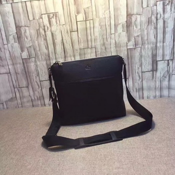 Gucci Leather Messenger Bag 394915 Black
