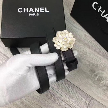 Chanel 20mm Leather Belt CH0801 White