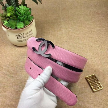 Chanel 30mm Leather Belt CH5232 Pink