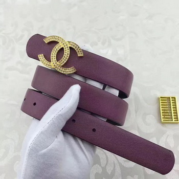 Chanel 30mm Leather Belt CH5235 Wine