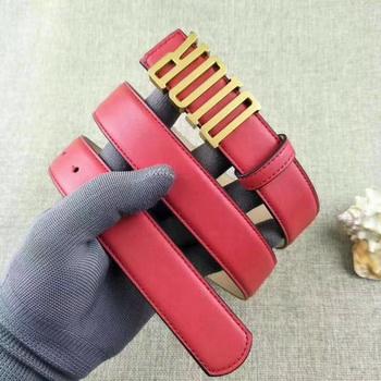 Dior 30mm Leather Belt CD2365 Red