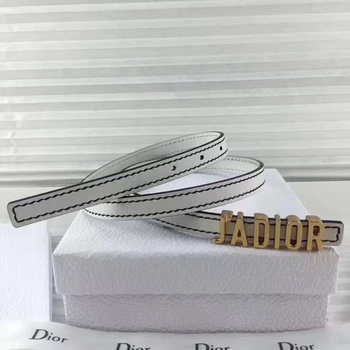 Dior 30mm Leather Belt CD2366 White