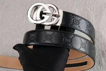 Gucci 34mm Leather Belt GG0802 Black