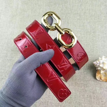Louis Vuitton 30mm Patent Leather Belt M4226 Red
