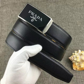 Prada 34mm Leather Belt PD0801 Black