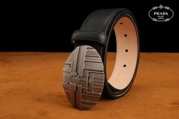 Prada Leather Belt PD0802 Black