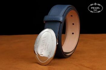 Prada Leather Belt PD0805 Blue