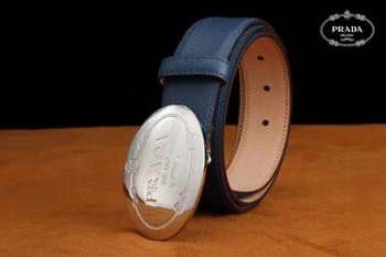 Prada Leather Belt PD0805 Blue