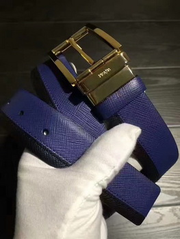 Prada Leather Belt PD0806 Blue