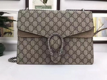 Gucci Dionysus GG Supreme Canvas Shoulder Bag 403348 Khaki