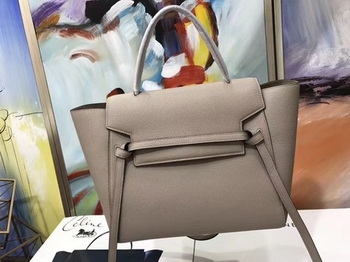 Celine Belt Bag Original Litchi Leather C3349 Light Grey