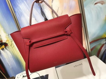 Celine Belt Bag Original Litchi Leather C3349 Red