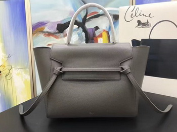 Celine Belt Bag Original Palm Skin Leather C3349 Deep Grey