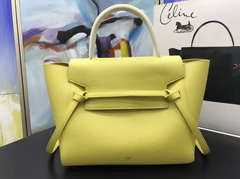 Celine Belt Bag Original Palm Skin Leather C3349 Lemon