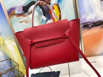 Celine Belt Bag Original Palm Skin Leather C3349 Red
