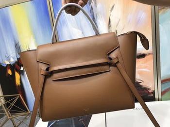 Celine Belt Bag Original Smooth Leather C3349 Brown&Blue