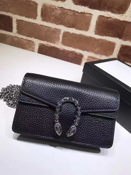 Gucci Dionysus Leather Super mini Bag 476432 Black