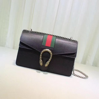 Gucci Dionysus Leather Shoulder Bag 400249 Black