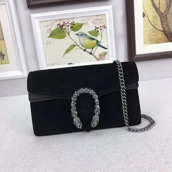 Gucci Dionysus Velvet Super mini Bag 476432 Black