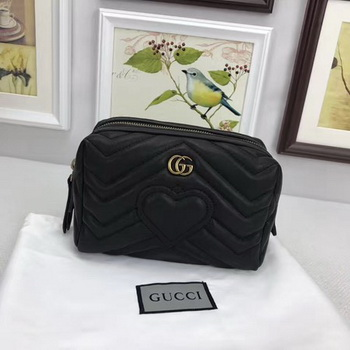 Gucci GG Marmont Cosmetic Case 476165 Black