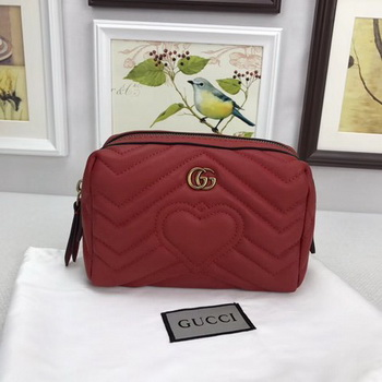 Gucci GG Marmont Cosmetic Case 476165 Red