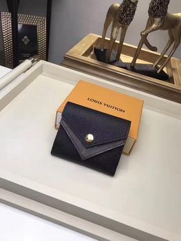Louis Vuitton CRUISE 2017 DOUBLE V COMPACT WALLET M64419 Black