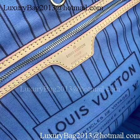 Louis Vuitton MONOGRAM Canvas NEVERFULL MM M41050 Blue