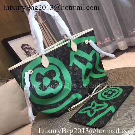 Louis Vuitton MONOGRAM Canvas NEVERFULL MM M41050 Green