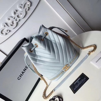 Chanel Hobo Bag Original Sheepskin Leather A94889 Blue