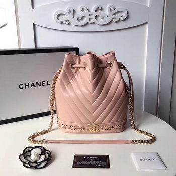 Chanel Hobo Bag Original Sheepskin Leather A94889 Pink