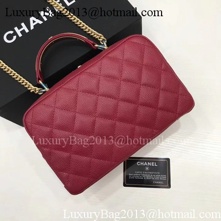 Chanel Shoulder Bag Original Cannage Pattern CHA6598 Deep Red