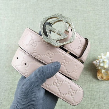 Gucci 38mm Leather Belt GG57098 Pink