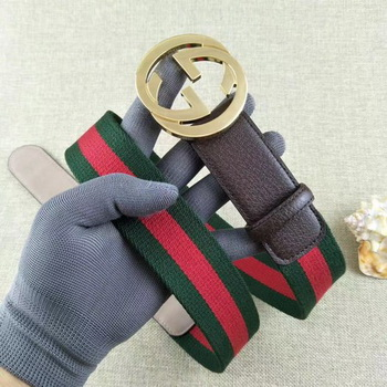 Gucci 40mm Leather Belt GG57560 Brown