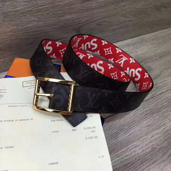 Louis Vuitton 40mm Monogram Belt M5898 Gold